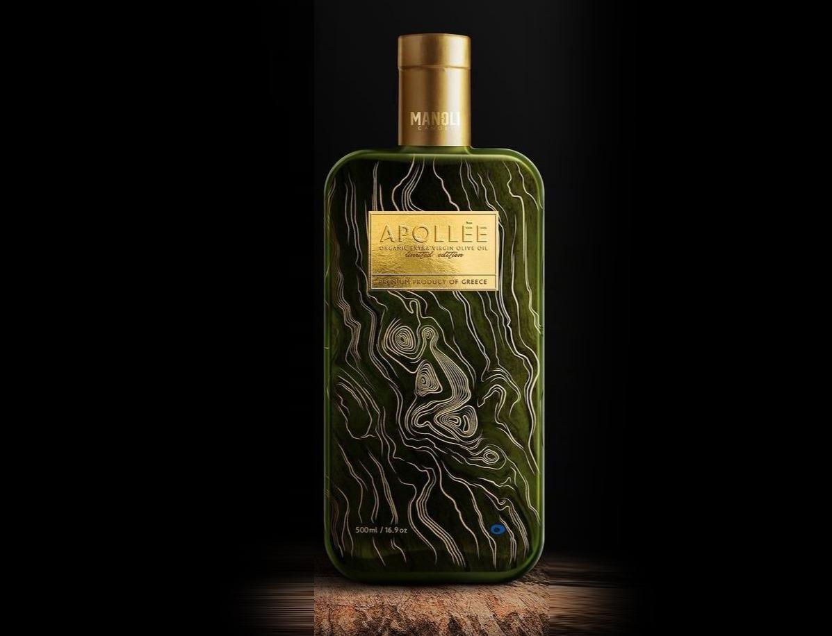 """APOLLEE"" Organic Extra Virgin Olive Oil, STYLEGLASS"